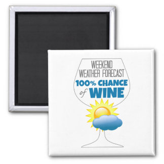 Weekend Weather Forecast Sunny 100% Chance of Wine Magnet