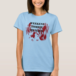 Weekend Zombie Hunter Bloody Front and Back T-Shirt
