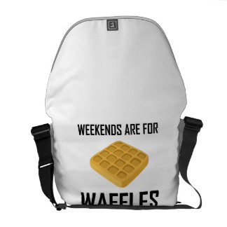 Weekends Are For Waffles Messenger Bag