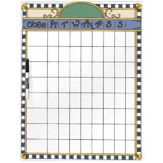 Weekly Chores Chart Dry Erase Board