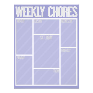 WEEKLY CHORES Perfect for your kids or business! Flyer