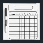 "WEEKLY EXERCISE CHART DRY ERASE BOARD<br><div class=""desc"">WEEKLY EXERCISE CHART DRY ERASER</div>"