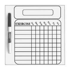 Weekly Exercise Chart Dry Erase Board at Zazzle