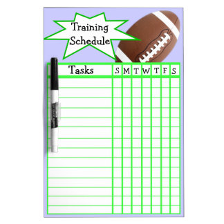 Weekly football training schedule Dry-Erase whiteboards