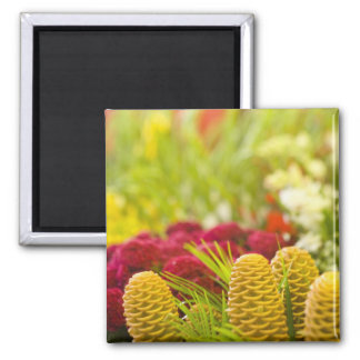 Weekly Friday fruit & vegetable market. 2 Inch Square Magnet