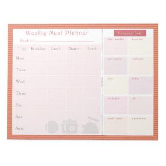 Weekly Meal Planner Summer Line Note Pad