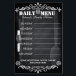"""Weekly Menu Blackboard for Kitchen<br><div class=""""desc"""">This is chalkboard style dry erase board where it gives a vintage unique appearance. All the text shown in the board can be modified with font and text option.</div>"""