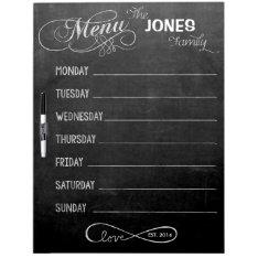 Weekly Menu Blackboard For Kitchen (dry Erase) at Zazzle