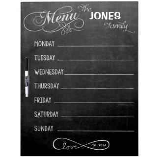 Weekly Menu Blackboard for Kitchen (Dry Erase)