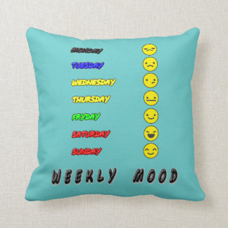 weekly mood throw pillow