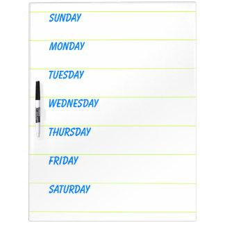 Weekly Planner Dry-Erase Board
