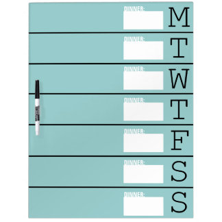 Weekly Planner / Menu - Large Dry Erase Board
