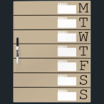 """Weekly Planner / Menu - Large Dry Erase Board<br><div class=""""desc"""">Keep track of all that&#39;s going on in your household with this 16&quot; x 22&quot; dry erase weekly calendar and dinner menu planning aid. Stick it to the refrigerator, inside a cabinet door, or at your family&#39;s &quot;command central&quot; so everyone see what&#39;s going on each week. You can easily change...</div>"""