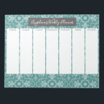 "Weekly Planner - Modern Farmhouse Tile Pattern Notepad<br><div class=""desc"">A trendy geometric pattern with fresh colors are included with this design - a modern and simple look.</div>"