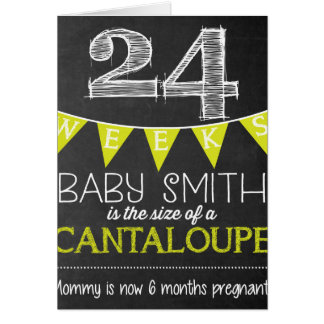 Weekly Pregnancy Countdown Chalkboard Sign Card