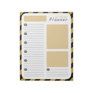 Weekly Project planner - Yellow and Black Notepad