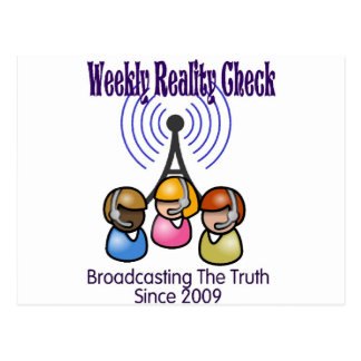 Weekly Reality Check Postcard