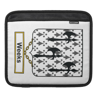 Weeks Family Crest iPad Sleeve