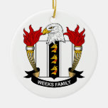 Weeks Family Crest Ornaments
