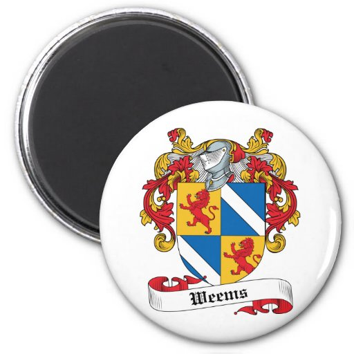 Weems Family Crest 2 Inch Round Magnet