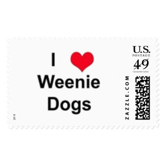 Weenie Dogs Postage Stamp