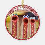 Weenie People Double-Sided Ceramic Round Christmas Ornament