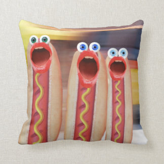 Weenie People Throw Pillow
