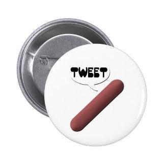 Weenie que pia pin redondo de 2 pulgadas