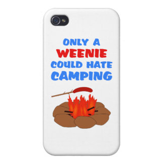 Weenies Hate Camping iPhone 4/4S Covers