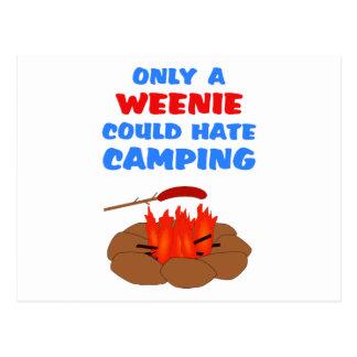 Weenies Hate Camping Postcard