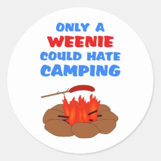 Weenies Hate Camping Stickers