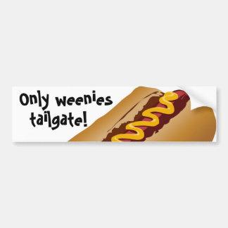 Weenies Tailgate Bumper Sticker