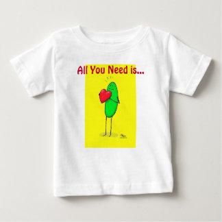 """Weenii verde """"todo lo que usted necesita es…"""" t-shirt"""
