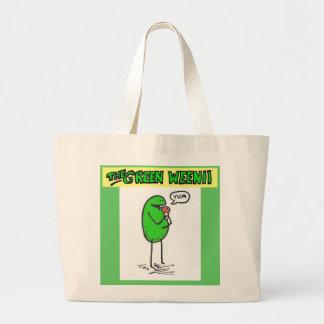 "Weenii verde ""Yum"" bolso de ultramarinos Bolsa Lienzo"