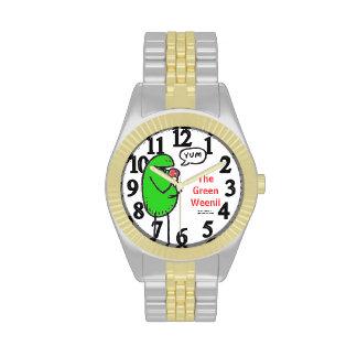 """Weenii verde """"Yum"""" reloj"""
