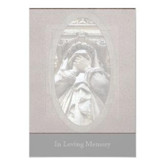 Weeping 2 Funeral Art Memorial service Card