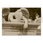 Weeping Angel in Sepia Sympathy Card