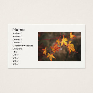 Weeping Autumn Business Card