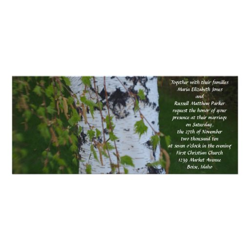 Weeping Birch Wedding Custom Invitation