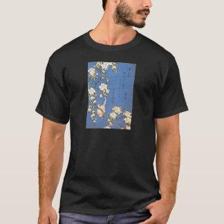 Weeping Cherry and Bullfinch by Hokusai T-Shirt