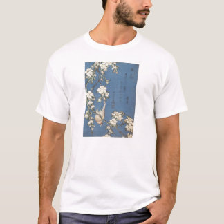 Weeping Cherry and Bullfinch, Hokusai, 1834 T-Shirt