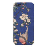 Weeping Cherry and Bullfinch, Hokusai iPhone SE/5/5s Cover