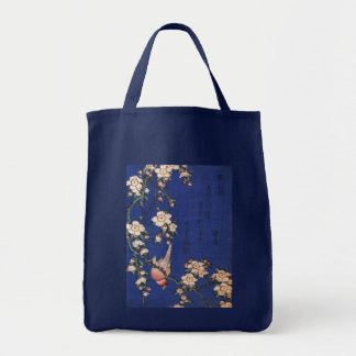 Weeping Cherry and Bullfinch, Hokusai Tote Bag
