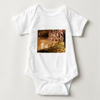 Weeping Cherry Blossoms in Sunlight Baby Bodysuit