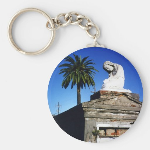 Weeping child / Angel- New Orleans Cemetery Keychain