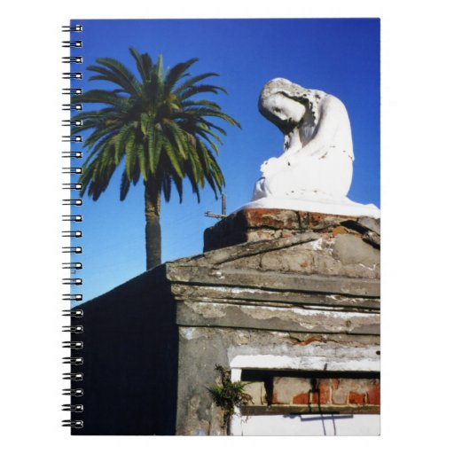Weeping child / Angel- New Orleans Cemetery Notebook