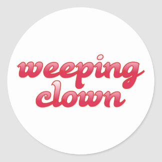 weeping clown stickers