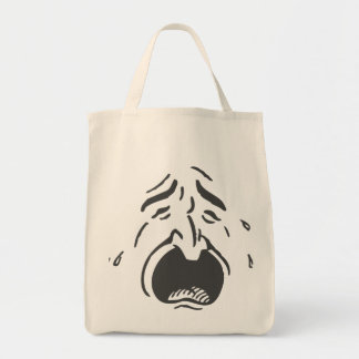 Weeping Expressive Face Tote Bag