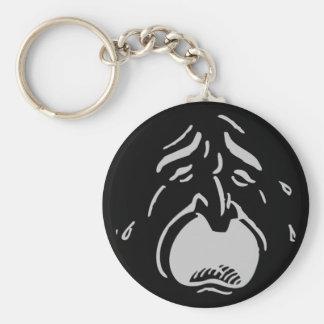 Weeping Face Keychain Basic Round Button Keychain