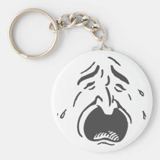 Weeping Face Lt Keychain Basic Round Button Keychain